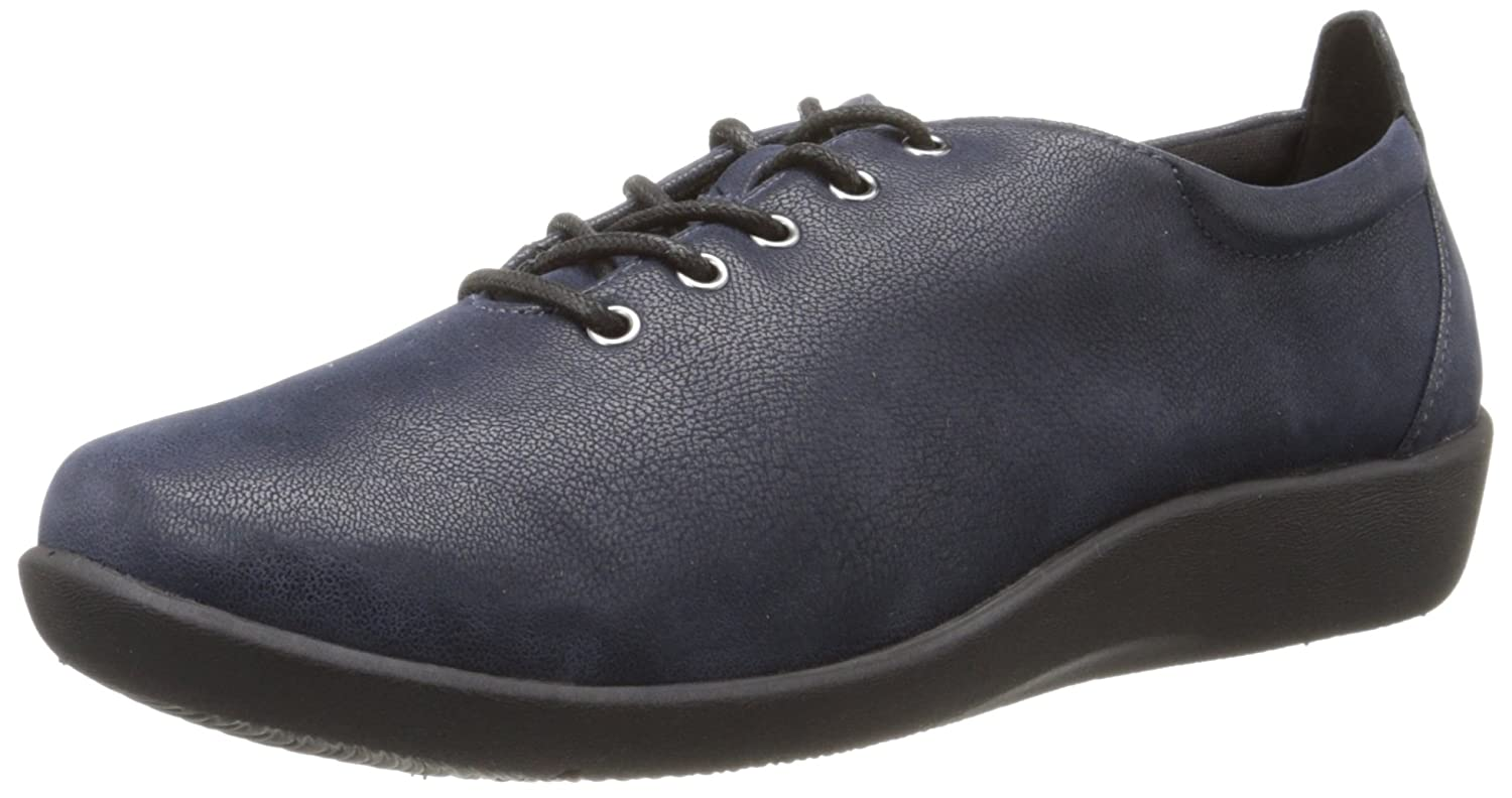 Clarks Damens's CloudSteppers Sillian Tino Lace-Up Schuhe Navy Synthetic Nubuck Nubuck Synthetic df4975