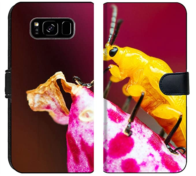 pretty nice cf10a abe5e Amazon.com: Luxlady Samsung Galaxy S8 Plus Flip Fabric Wallet Case ...