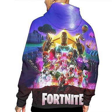 5b354de79f41 Koood Men Fashion Sweatshirt Poster Duplex Printing Hoodie 3D Printing Soft  Keep Warm Long Sleeve Party