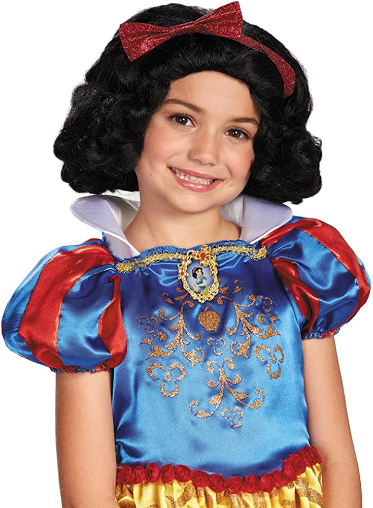 Snow White Wig Disney Princess Fancy Dress Halloween Child Costume Accessory