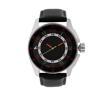 8374bd034 Amazon.com  Fastrack Men s 3089SL12 Casual Black Leather Strap Watch ...