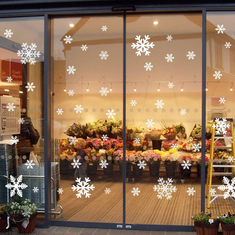 135 Fensterbilder für Weihnachten ,Schneeflocken mit Fensterdeko ...