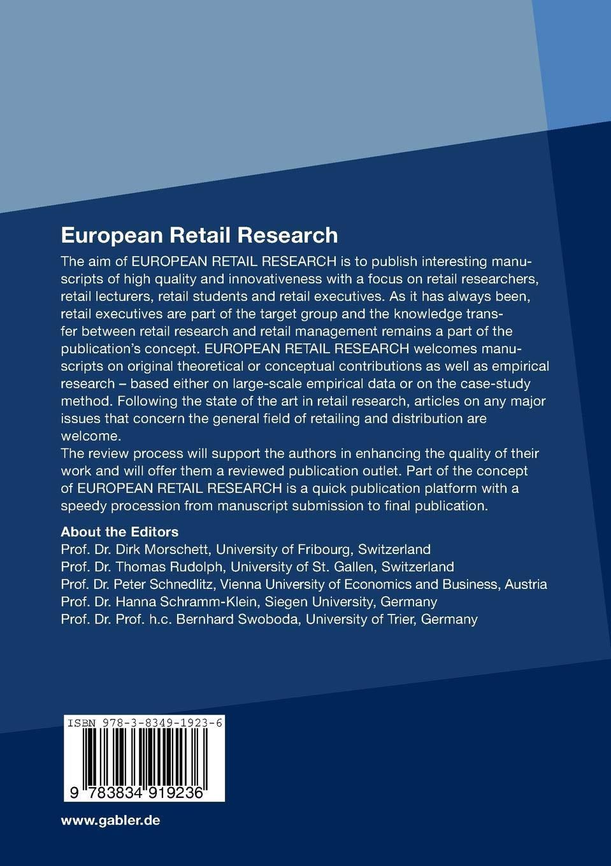 european retail research schramm klein hanna rudolph thomas morschett dirk schnedlitz peter swoboda bernhard