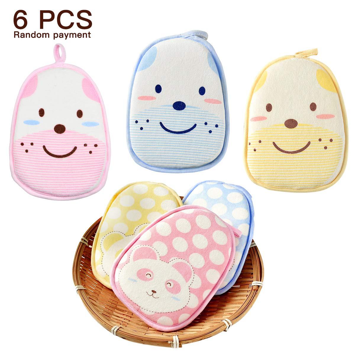 Cartoon Soft Baby Bath Sponge Pack of 2; Premium Natural Foam Sponge for Kids and Toddlers coffled iek900016mayeightzhA