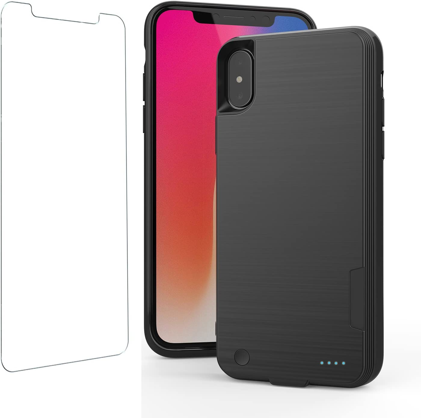 iPhone X Battery Case with QI Wireless Charging, iphone x Power Bank with Wireless Charging 5.8 inch 4000mAh Slim Extended Portable Battery Backup