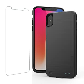 online store ace87 8e30d iPhone X Battery Case with QI Wireless Charging, iphone x Power Bank with  Wireless Charging 5.8 inch 4000mAh Slim Extended Portable Battery Backup ...