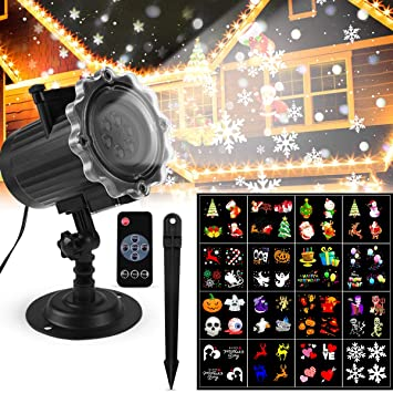 Luces Proyector Navidad LED Luces Proyector Exterior/Interiores ...