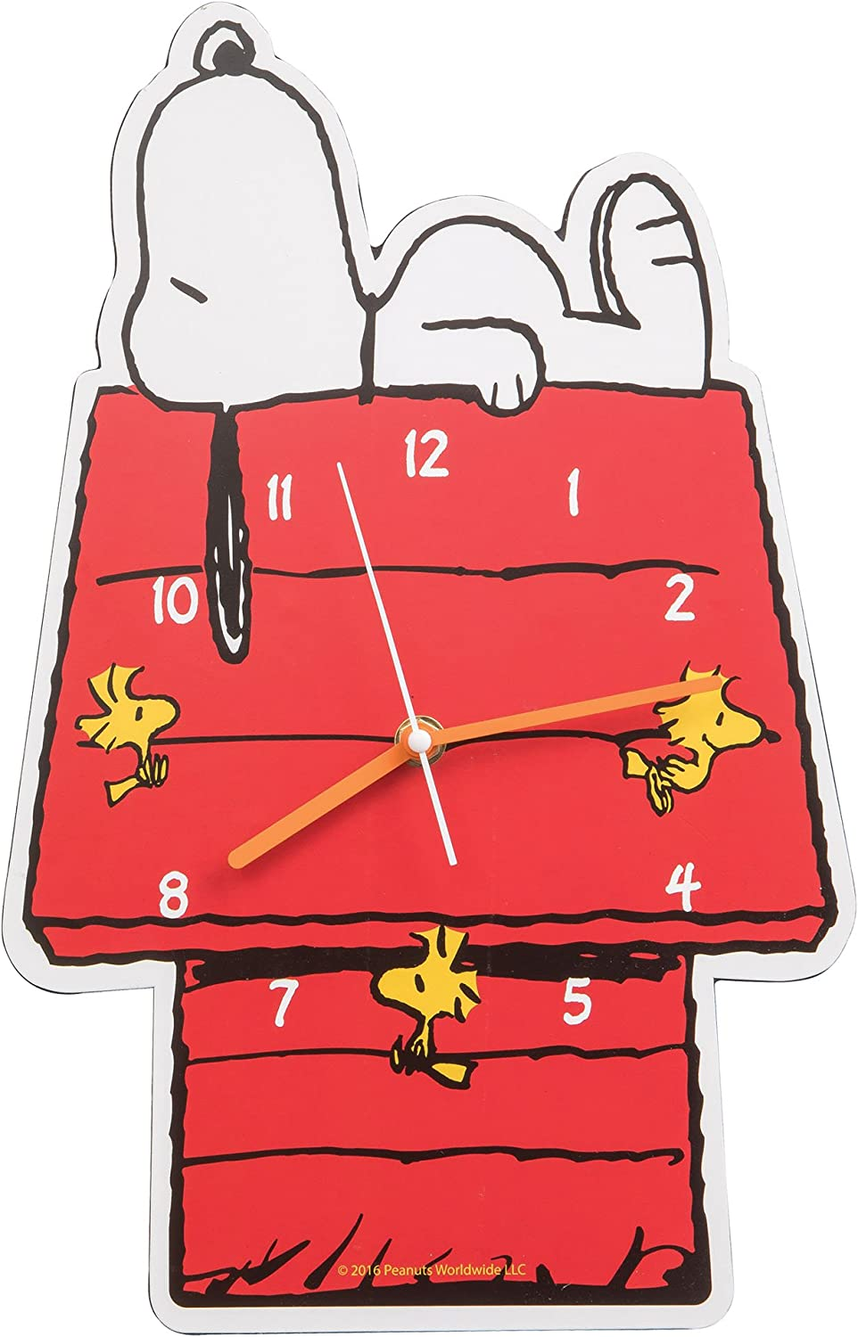 Vandor 85189 Peanuts Snoopy Shaped Deco Wall Clock