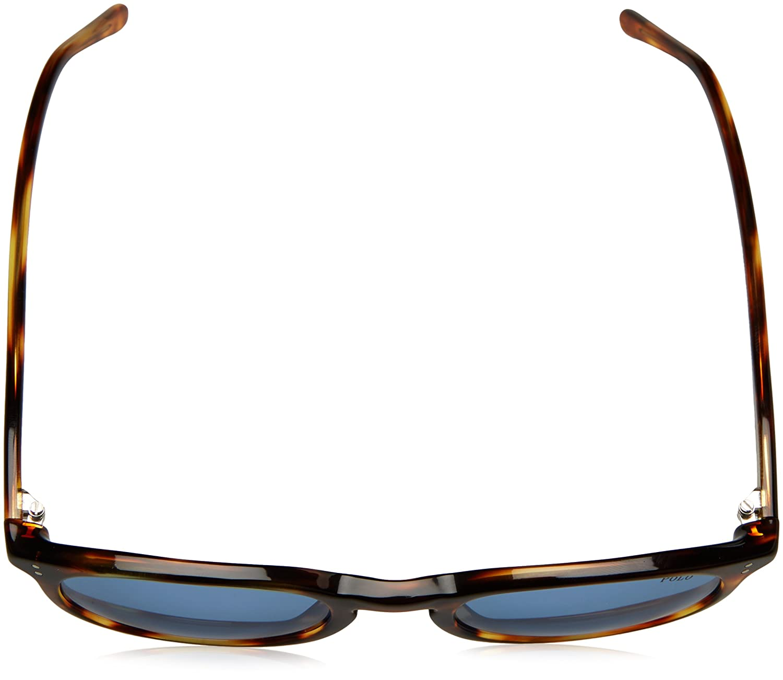 Polo Ralph Lauren Mens 0ph4110 Round Sunglasses stripped havana/ 50.0 mm