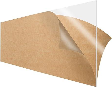 "Clear Plexiglass Precision Cut Cast Acrylic Sheet 3/"" X 12/"" X 1//2/"""