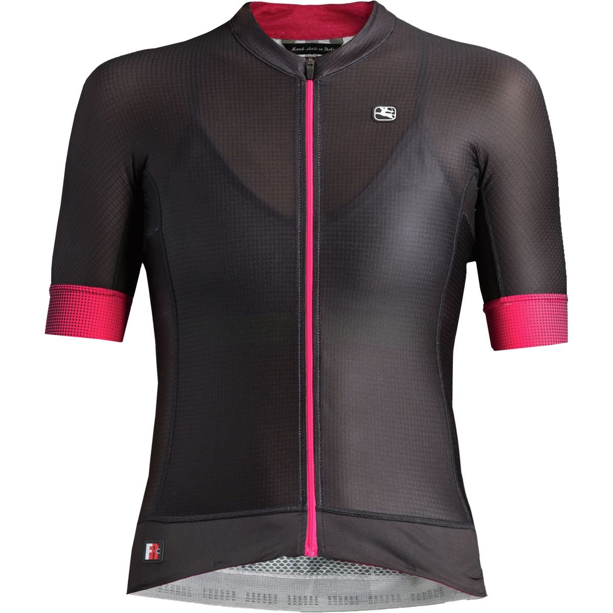 Giordana FR-C Pro Short-Sleeve Jersey - Women's Black/Pink, XL