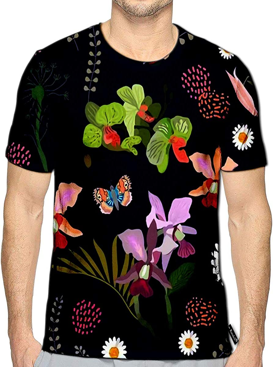 3D Printed T-Shirts Bird of Paradise and Exotic Flowers Short Sleeve Tops Tees