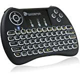 Beastron MKB-BB1 BST-BB1 2.4G Mini Wireless Keyboard with Mouse Touchpad Rechargeable Combos for Pc, Pad, Google Android TV Box and More, Backlit