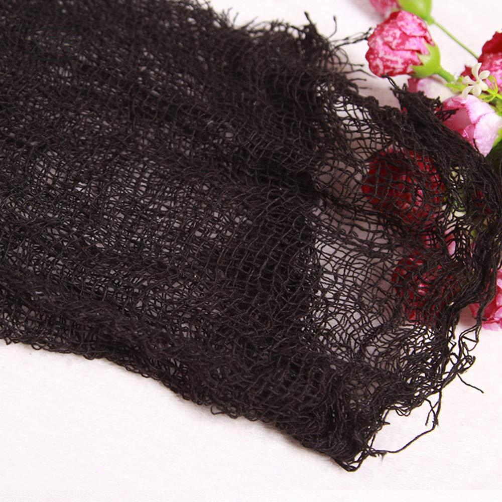 Ogquaton Fournitures et d/écorations de f/êtes Premium Halloween Creepy Cloth Noir