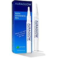 AuraGlow Teeth Whitening Pen, 35% Carbamide Peroxide, 15+ Whitening Treatments,...