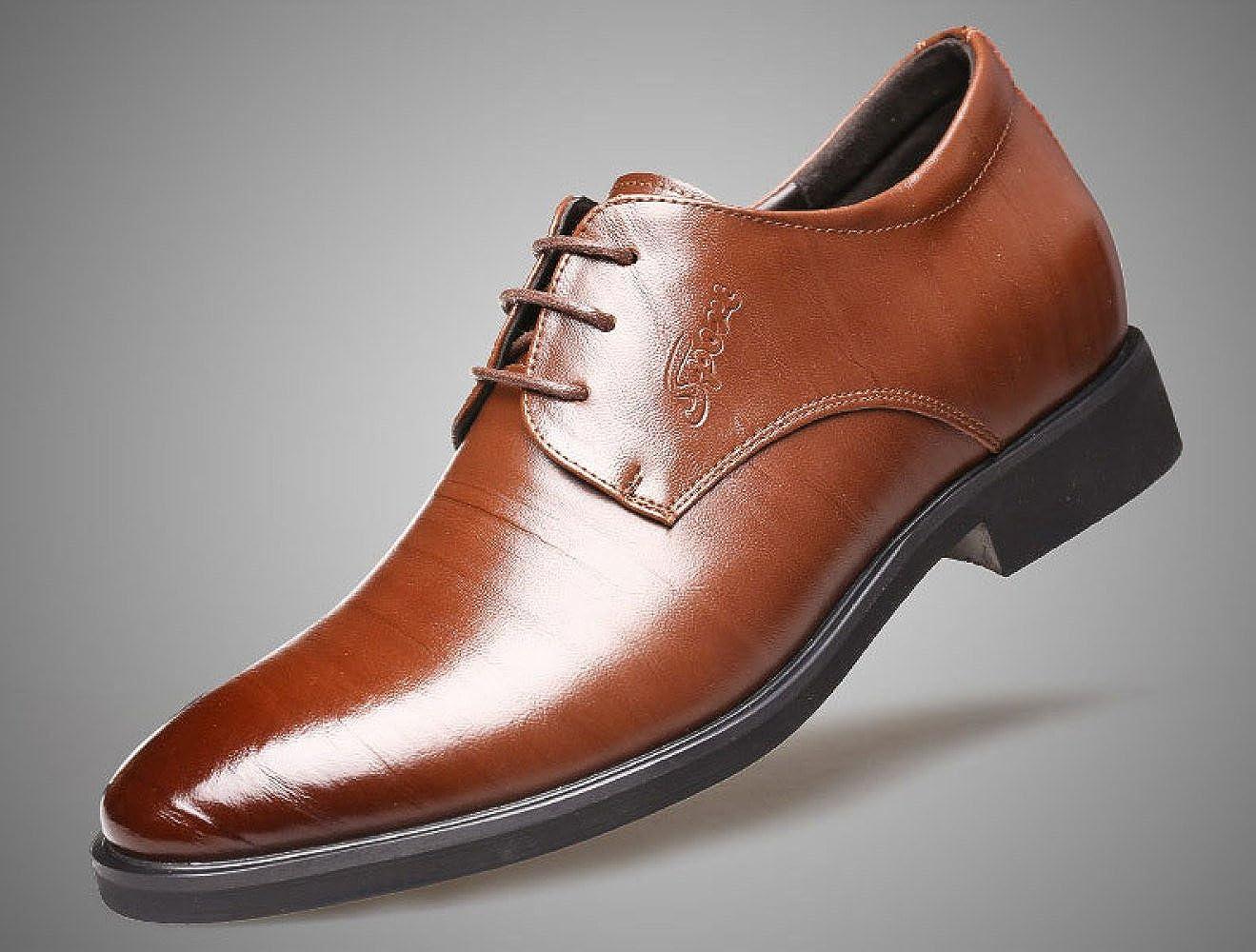 LEDLFIE Herren Echtleder Lederschuhe Tipps Schnürsenkel Braun Reiben Einzelne Schuhe Schuhe Braun Schnürsenkel f89970