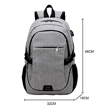 Amazon.com: USB Charge Anti-Theft Notebook Laptop Backpack Fashion Men Travel Computer Backpacks Black: Keeansy