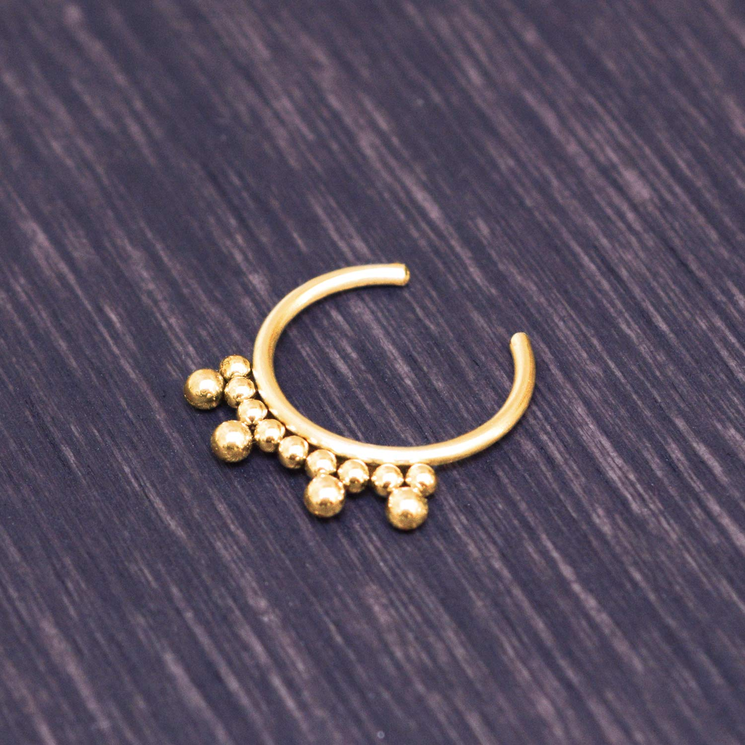Non Pierced Nose Septum Ring Fake Nose Cuff Surgical Steel