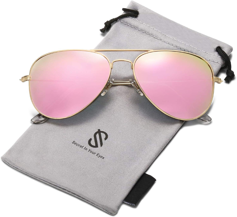 SOJOS Classic Aviator Polarized Sunglasses for Men Women Vintage Retro Style SJ1054