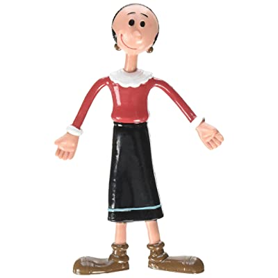 Popeye The Sailor Man, Olive OYL Bendable Poseable Figure: Toys & Games