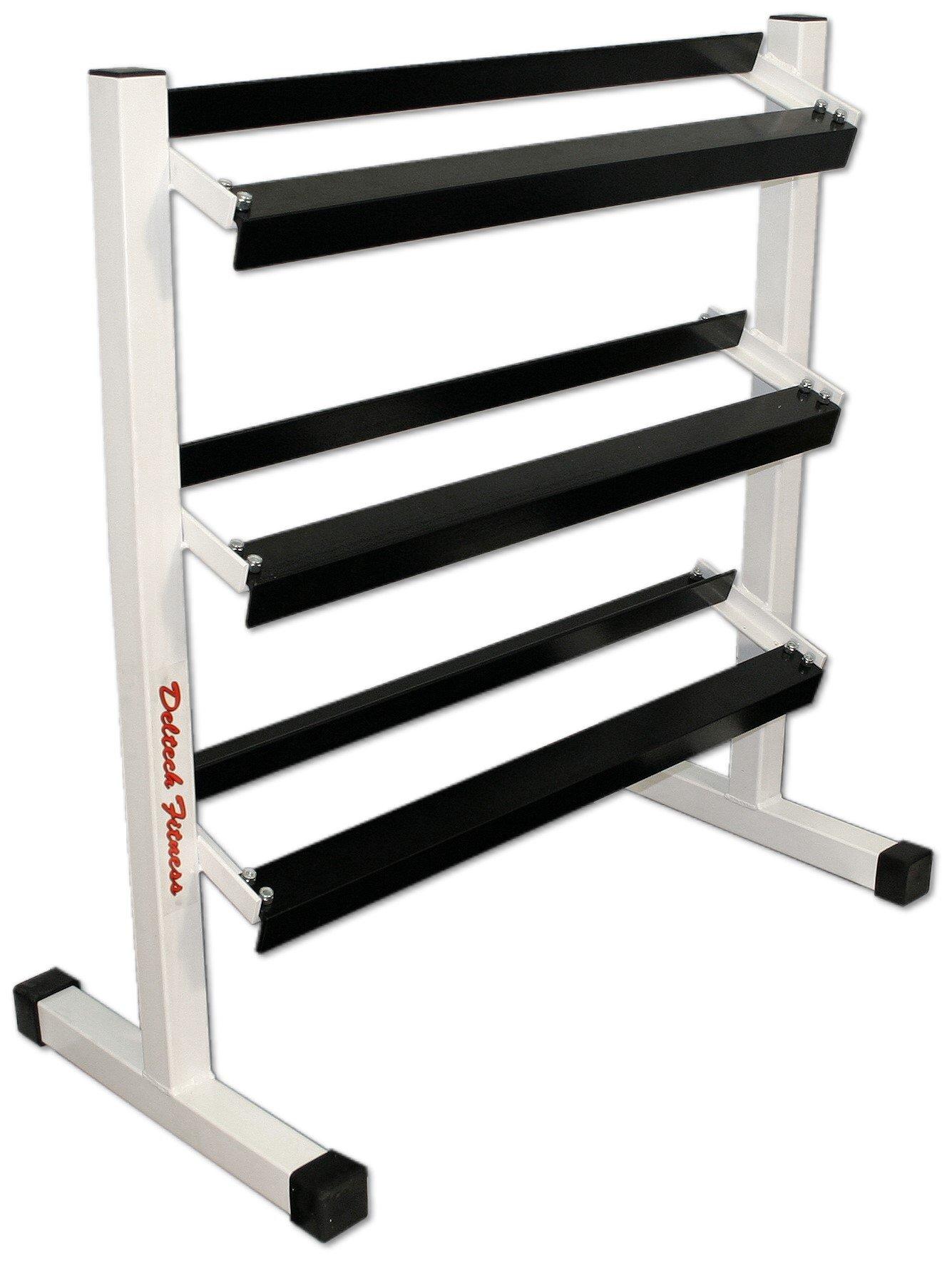 Deltech Fitness Three Tier 36'' Dumbbell Rack