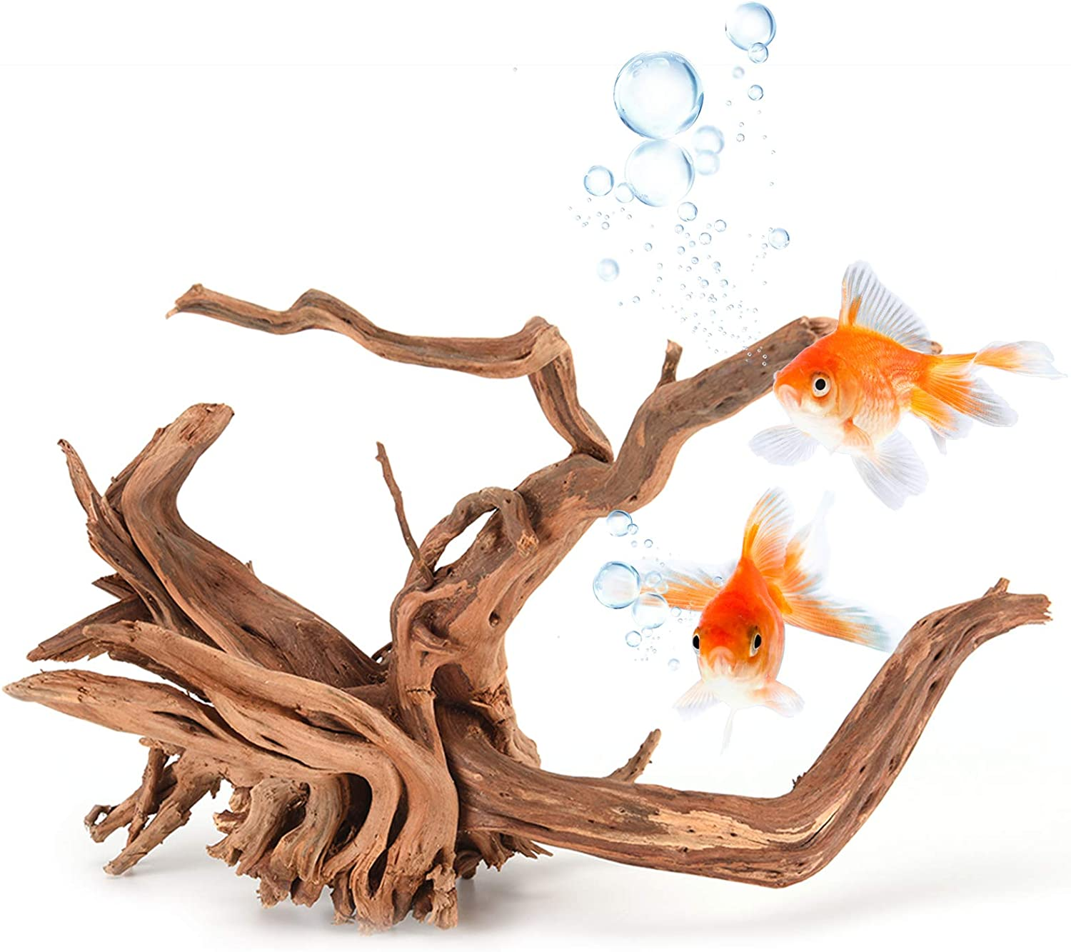 TankDecor 3 Pieces Large Driftwood for Aquarium Sinkable Natural Reptile Wood Branches – Great for Fish Tank Decoration(6inch-10inch)