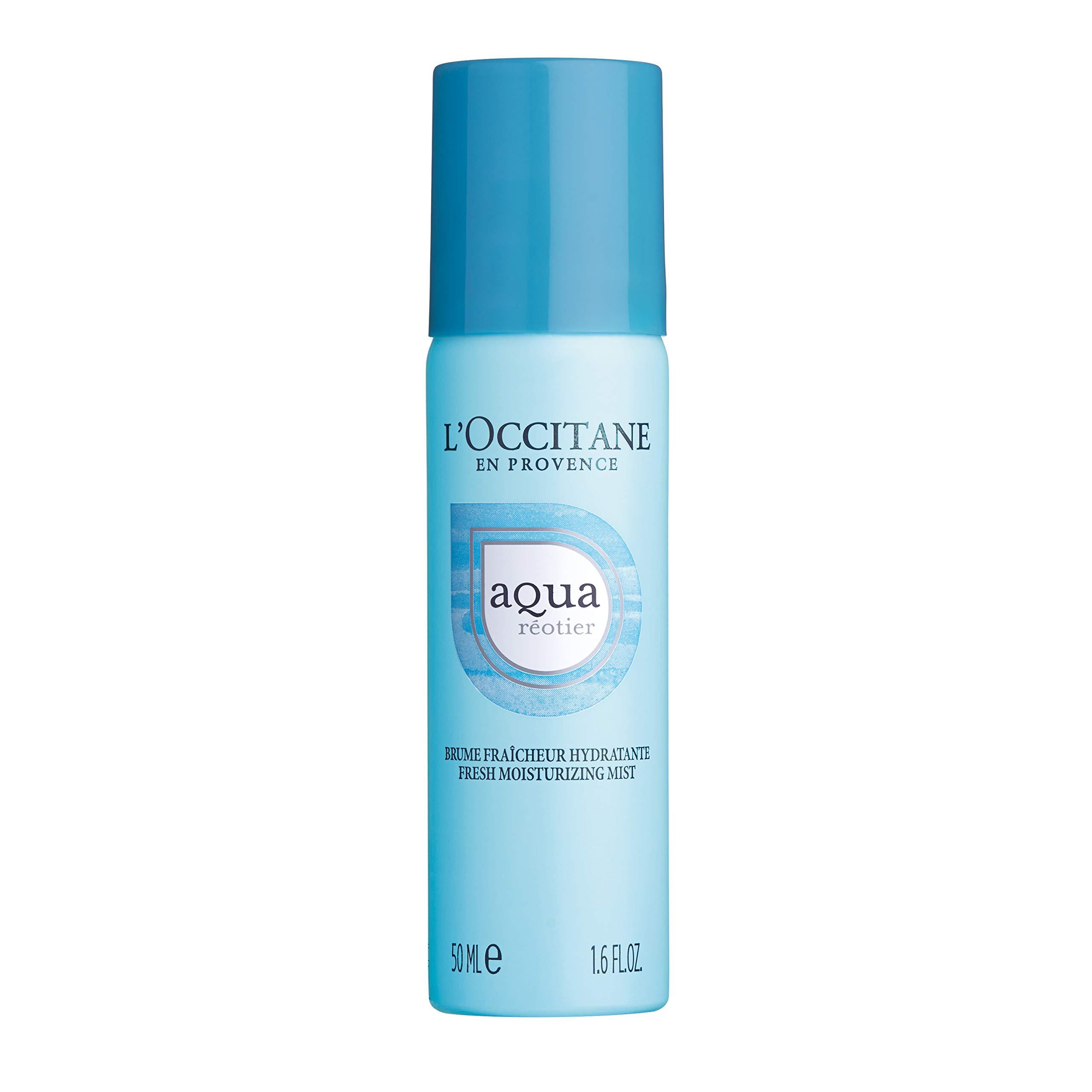 L'Occitane Hydrating Water-Based Aqua Reotier Fresh Moisturizing Mist Enriched with Hyaluronic Acid, 1.6 fl. oz.