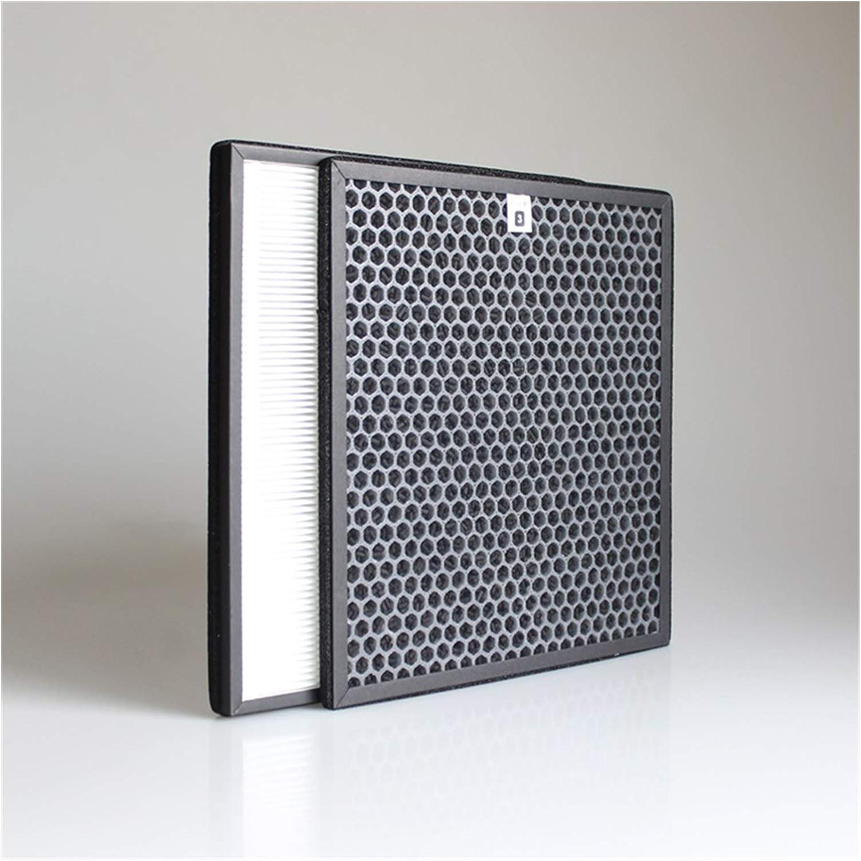 Filtro de Reemplazo Purificador 2pcs / lote purificador de aire de aire HEPA Kit de filtro de aire compatible con Philips AC4002 AC4004 AC4012 Piezas de purificador de aire AC4123 + Filtro AC4124 Reem