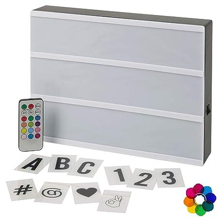 URBNLIVING CREA tu Propio Mensaje LED Caja de luz Tabla de Mensajes, A4 Multi Colour