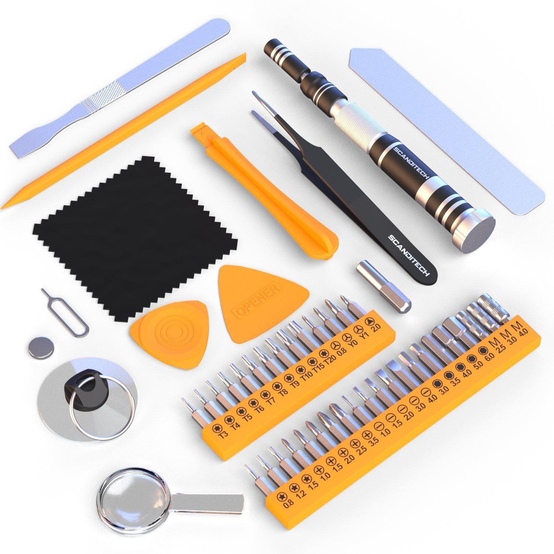 ScandiTech star night light recision Screwdriver Set - 35 Bit Tool Kit & 9 Tools for iPhone, Samsung, Computer Repair - 2-Year Warranty