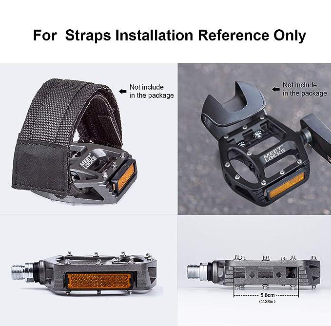 MEETLOCKS Bicicleta Pedal Inyección Cuerpo de aleación de magnesio CR-MO mecanizado 9/16