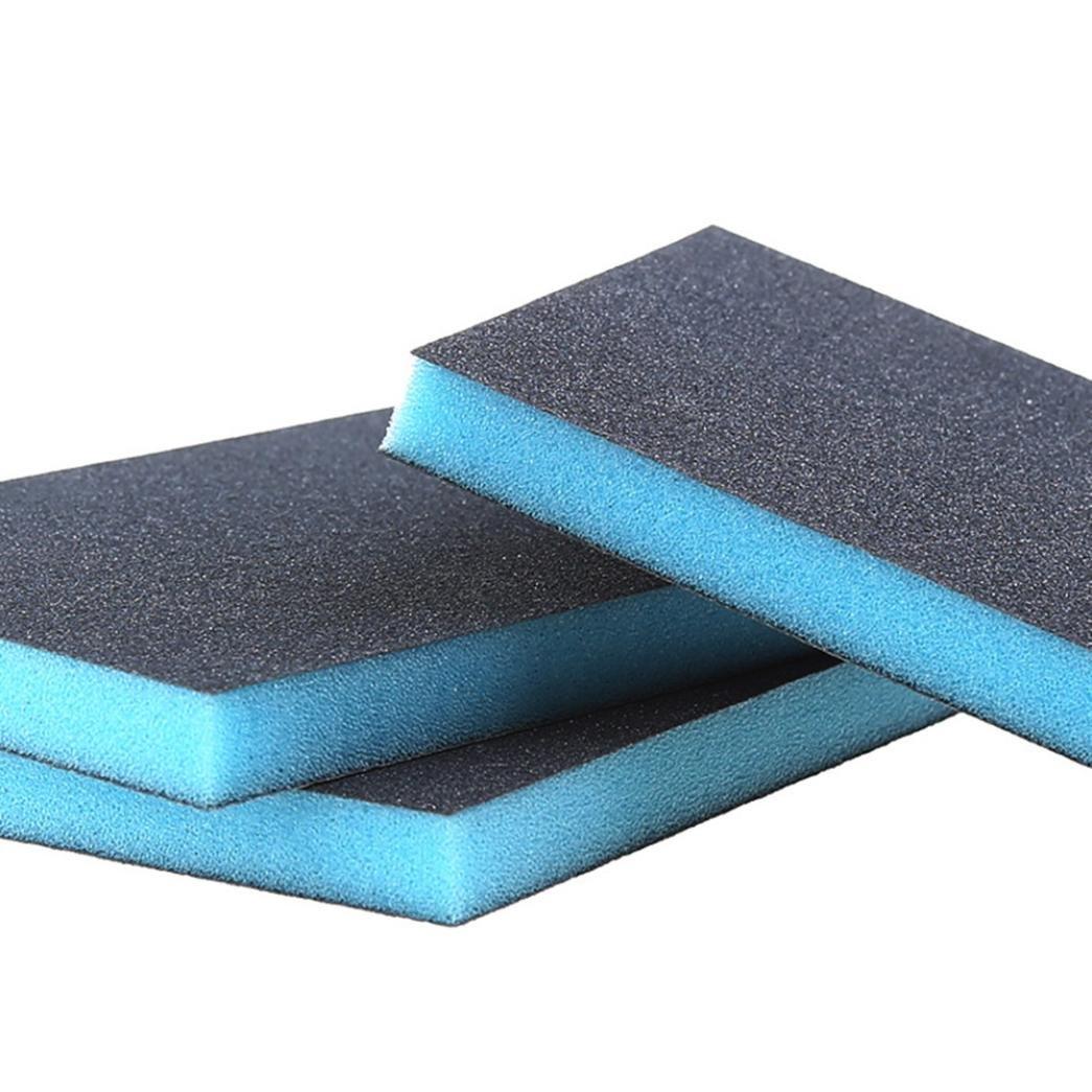 Nano-Schmirgelschwamm, 12shage Kitchen Nano Schmirgel Magie Clean Rub Topf Rost Brennflecken Schwamm Entfernen Kit