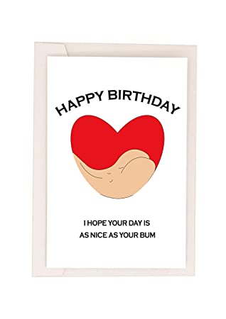 Birthday Card For Wife Funny Card for Wife Rude Birthday Cards