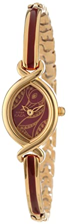 c1aaa215971 Amazon.com  Titan Women s 2251YM25 Raga Jewelry Inspired Gold-Tone ...