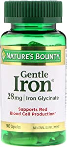 Nature's Bounty, (8 Pack) Gentle Iron, 28 mg, 90 Capsules
