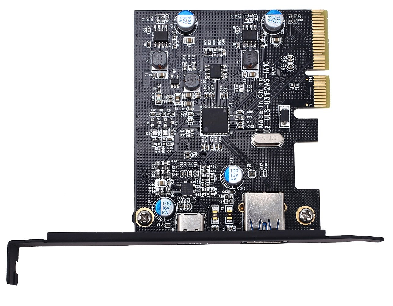 TOTOVIN PCI-E PCI Express to USB 3.1 Gen 2 (10 Gbps) Type A+Type C Expansion Card Asmedia Chipset for Windows 7/8/8.1/10/Linux Kernel (Type A+Type C) by TOTOVIN (Image #4)