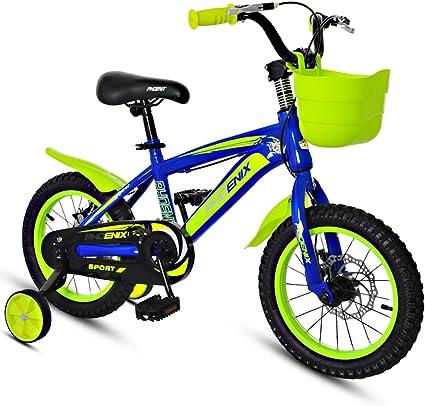 Bicicletas 3-5 años de Edad Bicicletas niño de 14 Pulgadas Niños Bici de montaña Azul Amarillo de los niños (Color : Blue and Yellow): Amazon.es: Deportes y aire libre