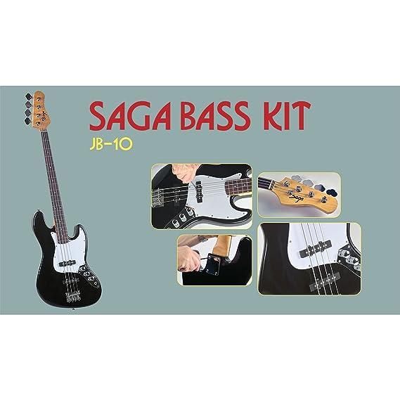 Saga JB-10 Electric Bass Kit - J Style: Amazon.co.uk: Musical ...