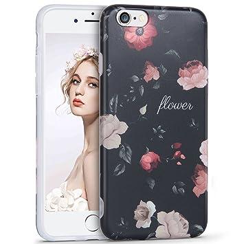 179c9b137d Imikoko iPhone6ケース iPhone6s ケース かわいい おしゃれ 花柄 人気 ブランド ソフト アイホン6 女子 4.7