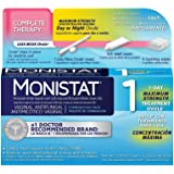 Monistat 1 Complete Therapy Vaginal Antifungal 1-Day Maximum Strength Treatment Ovule Combination Pack