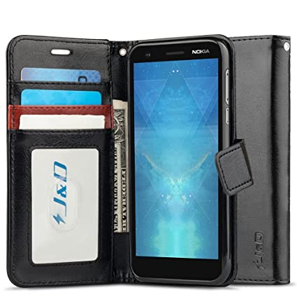 best sneakers 64551 09344 J&D Case Compatible for Nokia 3.1 Case, [Wallet Stand] [Slim Fit] Heavy  Duty Protective Shock Resistant Flip Cover Wallet Case for Nokia 3.1 Wallet  ...