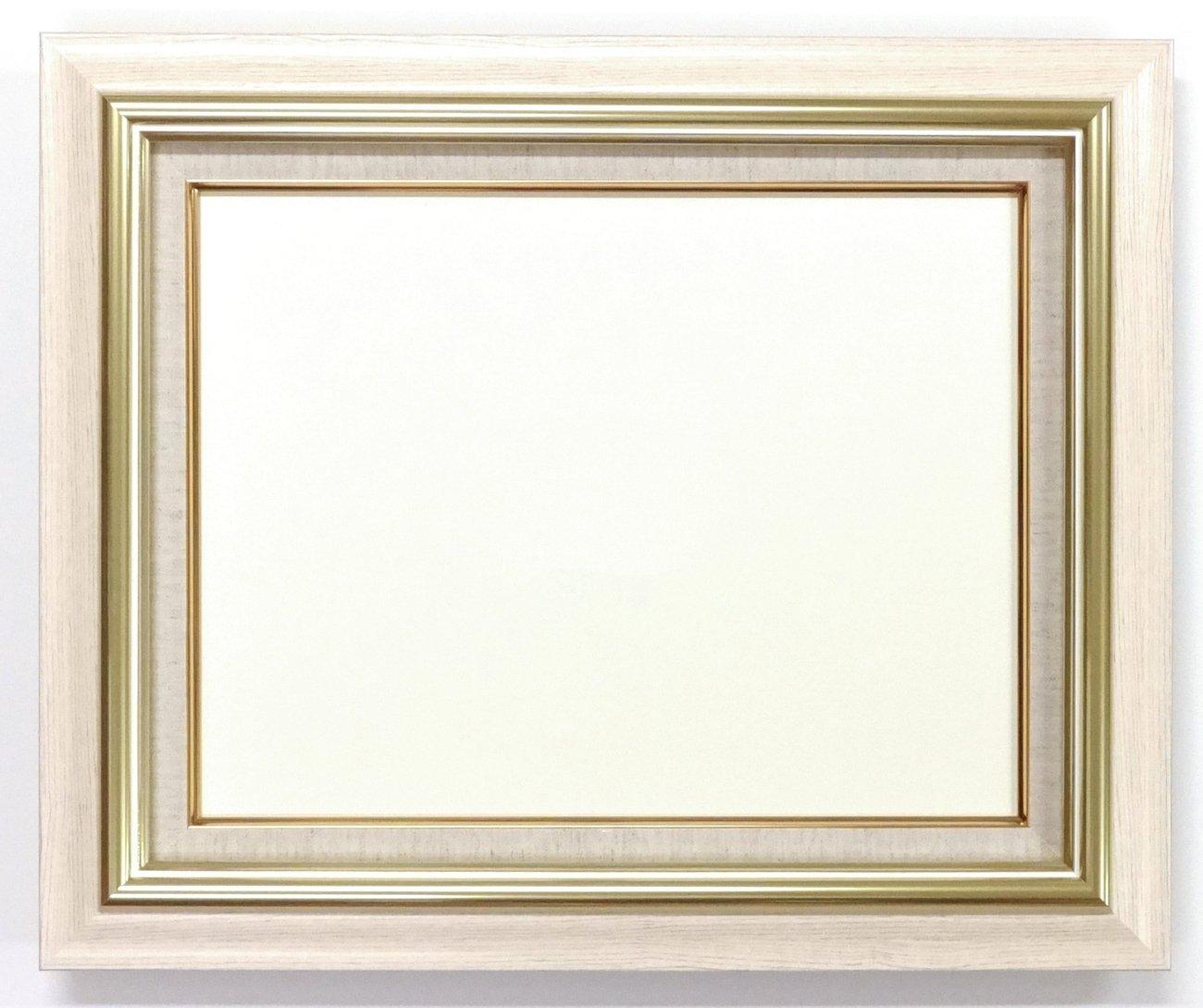 大額 油彩用額縁 8116 アクリル仕様 壁用フック付 (F8, アイボリー) B01NAI9C1X F8|アイボリー アイボリー F8
