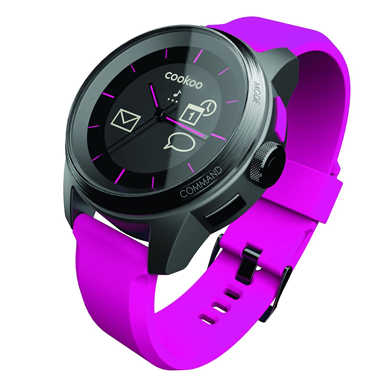 Cookoo CK-48-003 Connected Smart Uhr schwarz-rosa