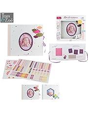 Livre de naissance personnalisable bébé fille 30 pages, 100 stickers, Inclus 1 toise Journal Coffret à souvenirs à compléter photos Tom&Zoé Rose