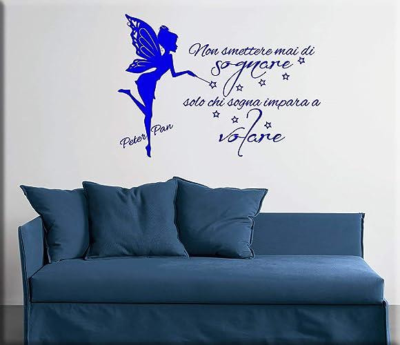 Adesivi Murali Peter Pan.Trilly E Peter Pan Frasi