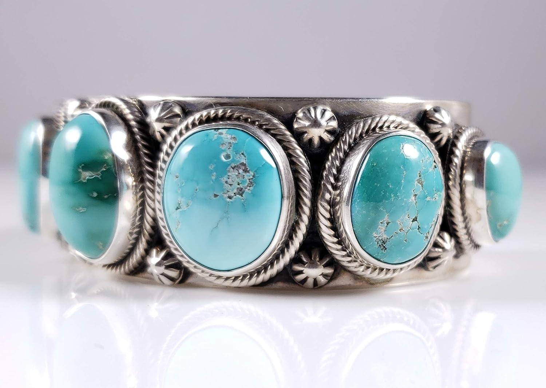 Sterling Silver Native American Navajo Cuff Bracelet 6 14