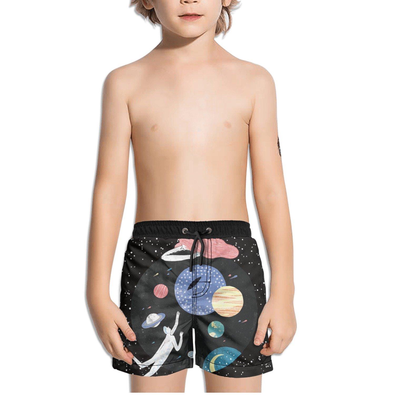 Ouxioaz Boys Swim Trunk Outer Space Universe Planet Beach Board Shorts