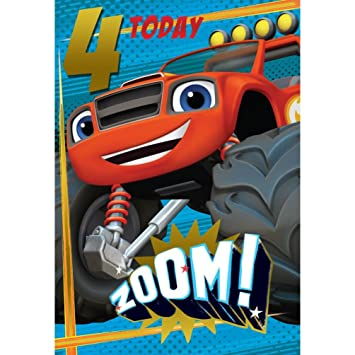 Amazon Blaze And The Monster Machines 4th Birthday Card