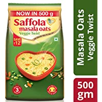 Saffola Masala Oats, Veggie Twist, 500g
