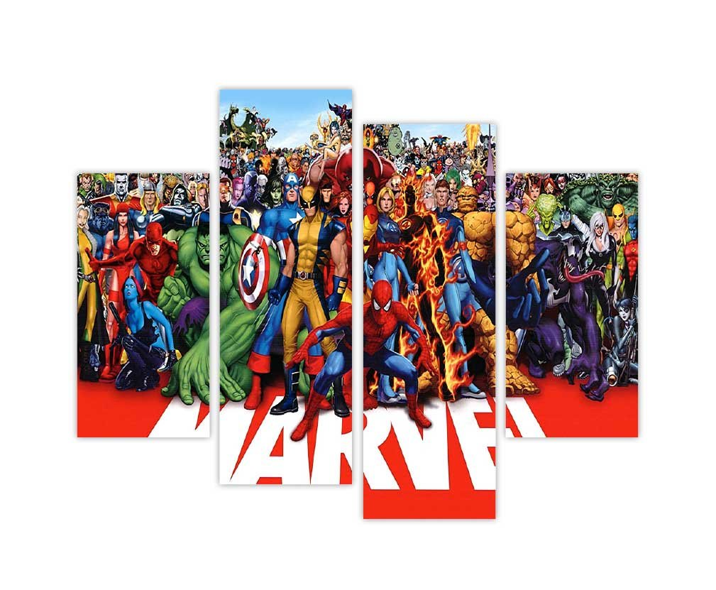 EXTRA LARGE CANVAS PRINTS WALL ART MARVEL SUPERHEROES HULK WOLVERINE SPIDERMAN AND MORE PHOTO HOME DÉCOR PRINT ROOM DECORATION PICTURE 4 PANEL 35  90cm WIDE ...  sc 1 st  Amazon UK & EXTRA LARGE CANVAS PRINTS WALL ART MARVEL SUPERHEROES HULK WOLVERINE ...